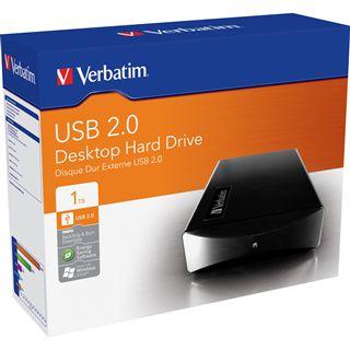 "1000GB Verbatim External Hard Drive 47512 3.5"" (8.9cm) USB 2.0 schwarz"
