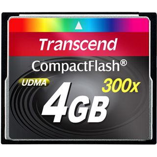 4 GB Transcend Standard Compact Flash TypI 300x Bulk