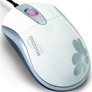 Dicota Blossom Optische Maus Weiß USB