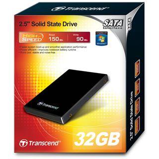 "32GB Transcend SSD 2.5"" (6.4cm) SATA 3Gb/s MLC asynchron (TS32GSSD25S-M)"