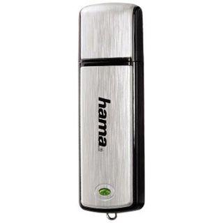 "16 GB Hama FlashPen ""Fancy"" schwarz/silber USB 2.0"
