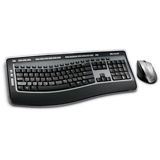 Microsoft Cordless Desktop 6000 V3 Tastatur+Maus Schwarz/Silber Deutsch USB