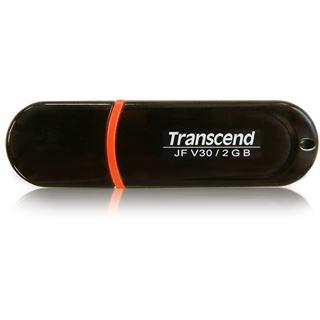 2 GB Transcend JetFlash V30 schwarz USB 2.0