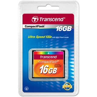 16 GB Transcend Standard Compact Flash TypI 133x Retail