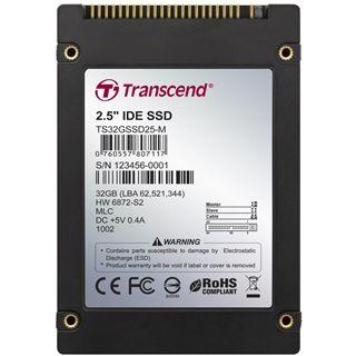 "32GB Transcend SSD 2.5"" (6.4cm) IDE 44-pin MLC asynchron (TS32GSSD25-M)"
