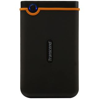 "250GB Transcend StoreJet 25 Mobile 2.5"" (6.35cm) Schwarz/Orange USB2.0"
