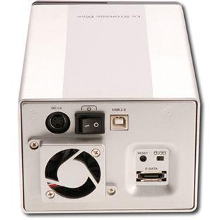 "Digitus DA-70525 3.5"" (8,89cm) eSATA/USB 2.0 schwarz/silber"