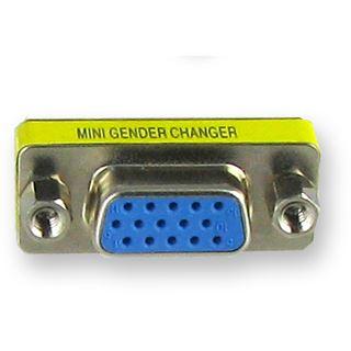 Equip Kab Mon Adapter DSUB Buchse-DSUB Buchse 15 BU/BU