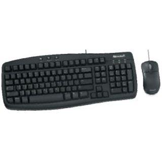 Microsoft Corded Desktop Basic Value Tastatur+Maus Schwarz Deutsch USB