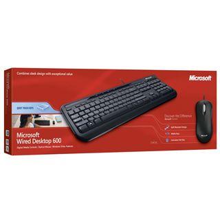 Microsoft Wired Desktop 600 Deutsch USB schwarz