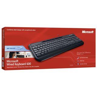 Microsoft 600 USB Deutsch schwarz (kabelgebunden)