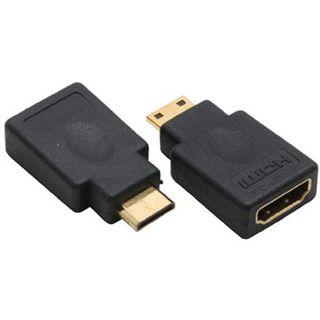 Inline HDMI Adapter High-Speed HDMI-Buchse auf HDMI Typ C Stecker Schwarz 4K / vergoldet