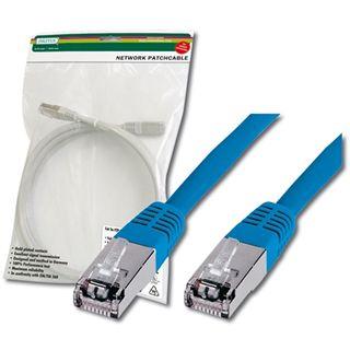 (€7,80*/1m) 0.50m Digitus Cat. 5e Patchkabel FTP RJ45 Stecker auf RJ45 Stecker Blau