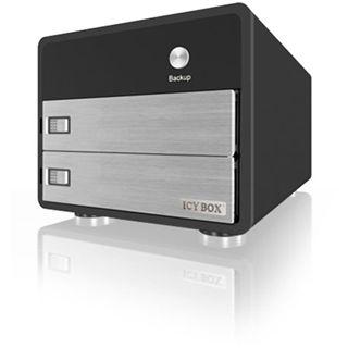 "3.5""(8,89cm) Icy Box IB-3221StU-B SATA USB 2.0 Schwarz/Silber"
