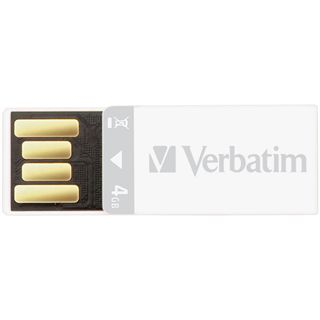 4 GB Verbatim Store `n` Go Clip weiss USB 2.0