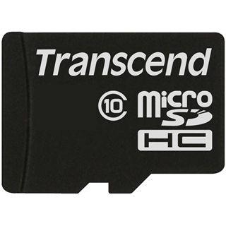 32 GB Transcend microSDHC Class 10 Retail inkl. Adapter