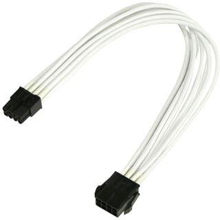 Nanoxia 30 cm weißes einzelsleeve Verlängerungskabel für 8-Pin PCI-E (NX8PE3EW)