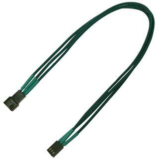 Nanoxia 30 cm grünes einzelsleeve Verlängerungskabel für 3-Pin Molex (NX3PV3EG)