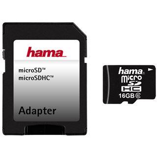 16 GB Hama Flash microSDHC Class 6 Retail inkl. Adapter
