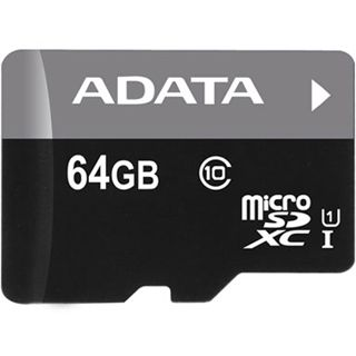 64 GB ADATA UHS-I microSDXC Class 10 Retail inkl. Adapter