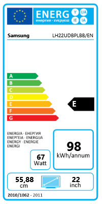 "22"" (55,88cm) Samsung SyncMaster UD22B LED schwarz 960x960 1xHDMI 1.3/1xVGA/1xDVI/1xDP"
