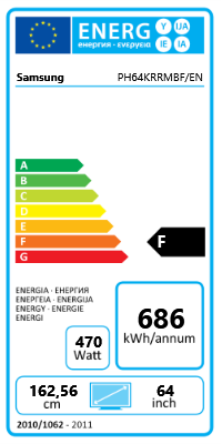 "64"" (162,56cm) Samsung P64FT Touch schwarz 1920x1080 BNC/1xHDMI 1.3/1xVGA/2xDVI/1xComposite Video"